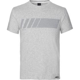 GripGrab Racing Stripe Maglietta in cotone biologico, grigio
